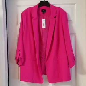 Women's Plus Size Hot Pink Blazer